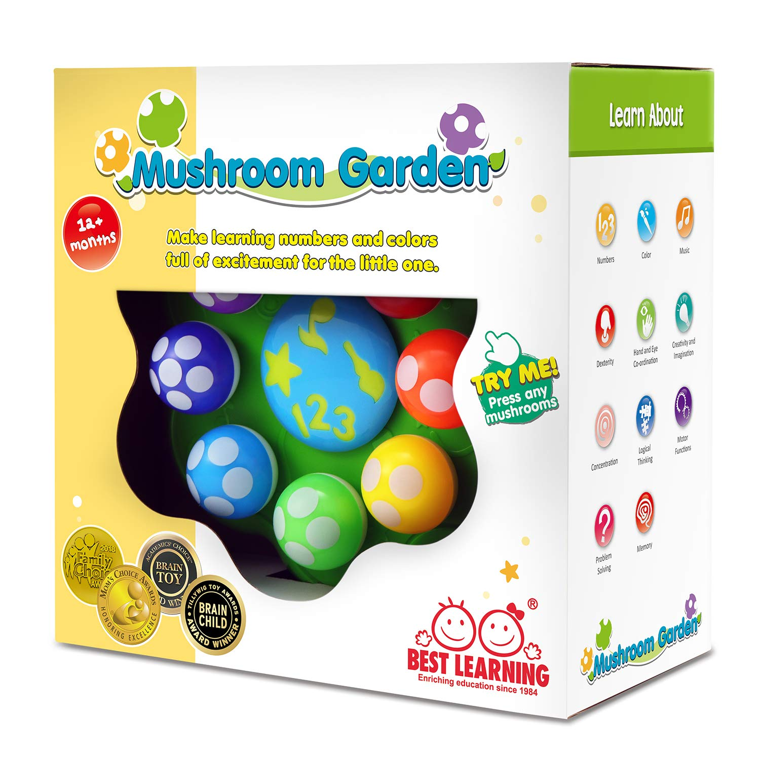 BEST LEARNING Mushroom Garden - Educational Toy for ...